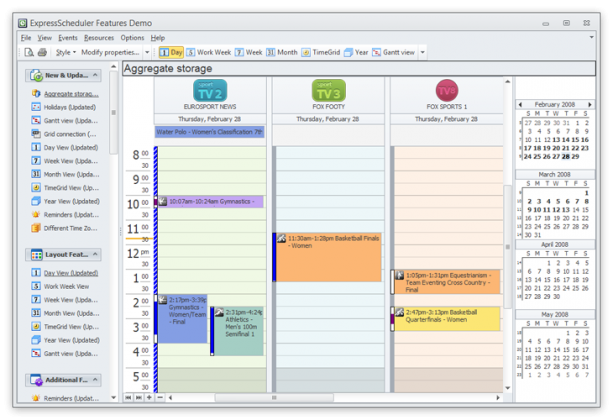 Terminplaner im Outlook Style